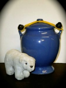 Isabel Gehr's Urn with a plush polar bear totem