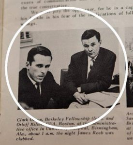 Newspaper clipping of Clark Olsen and Orloff Miller from 1965