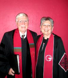 Dick Gilbert and Nancy Doughty at Ministry Days in 2011